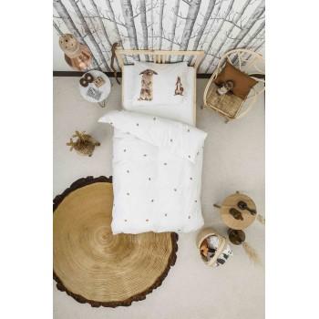 Двуспальный комплект постельного белья SNURK Лесные друзья 200/220 см.
