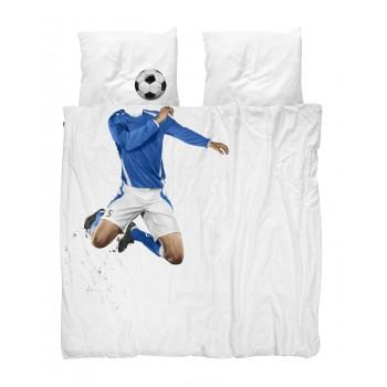 Двуспальный комплект постельного белья SNURK Футболист 200/220 см.
