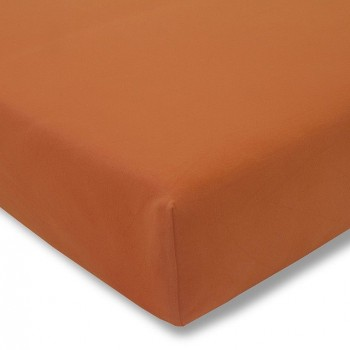 Простыня на резинке Estella 370/terracotta