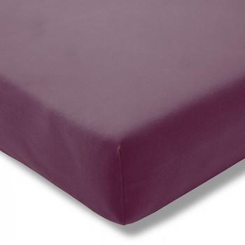 Простыня на резинке Estella 670/aubergine 160/200 см