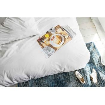 Двуспальный комплект постельного белья SNURK Завтрак 200/220 см.