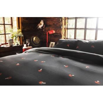 Двуспальный комплект постельного белья SNURK Грибы 200/220 см.