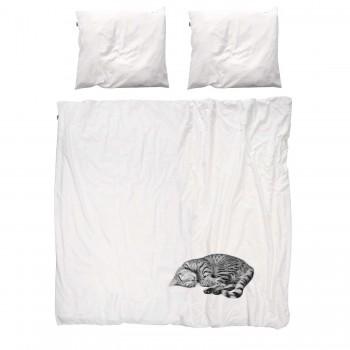Двуспальный комплект постельного белья SNURK Кошка Оли 200/220 см.